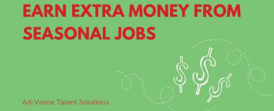 Earn Extra Money From Seasonal Jobs