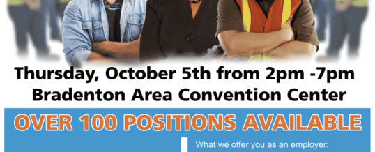 MANATEE COUNTY GOVERNMENT HIRING EXPO