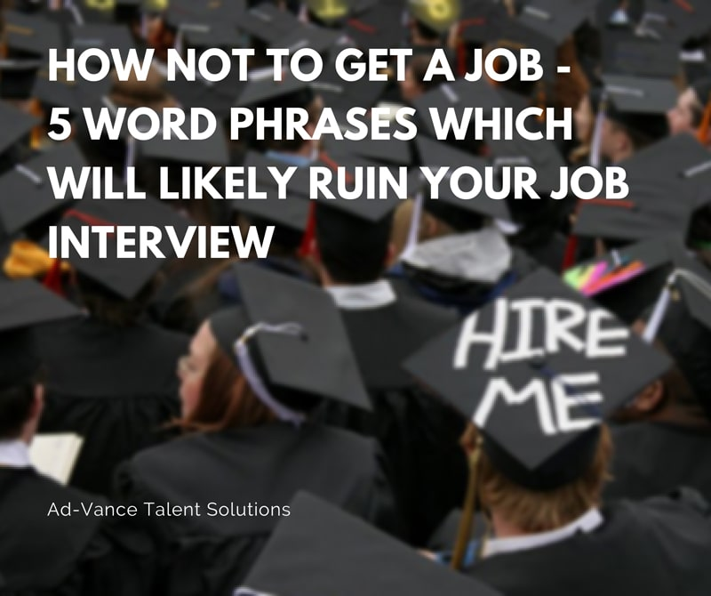 how not to get a job
