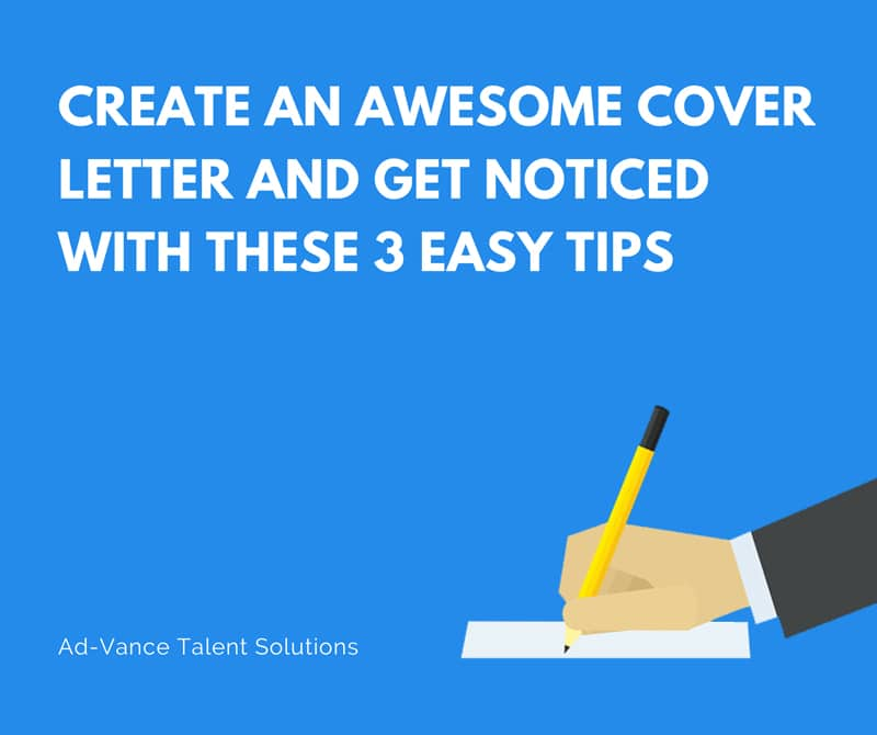 Create An Awesome Cover Letter And Get Noticed