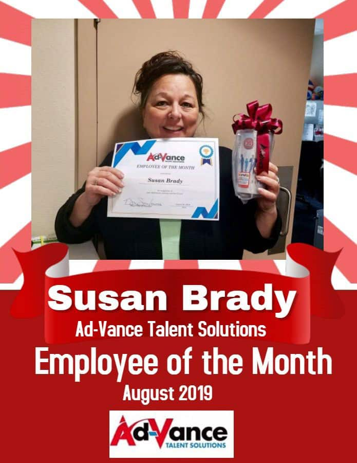 Employee of the month 2019 August