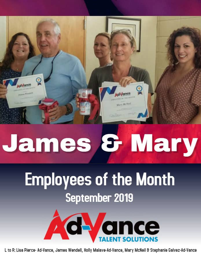 Employees of the Month 2019 September